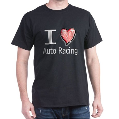 I Heart Auto Racing Dark T-Shirt