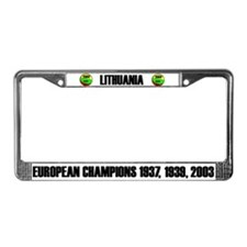 Lithuania Euro Champ License Plate Frame
