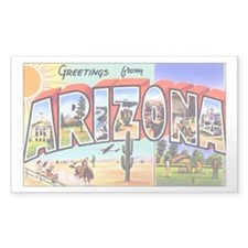 Arizona Greetings Rectangle Decal