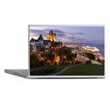 Quebec castle by night Laptop Skins