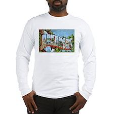Arkansas Greetings (Front) Long Sleeve T-Shirt