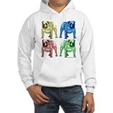 4 Color Hooded Bulldog Sweatshirt