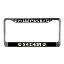 My Best Friend is a Mal-Shi License Plate Frame