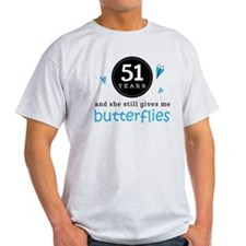 51 Year Anniversary Butterfly T-Shirt