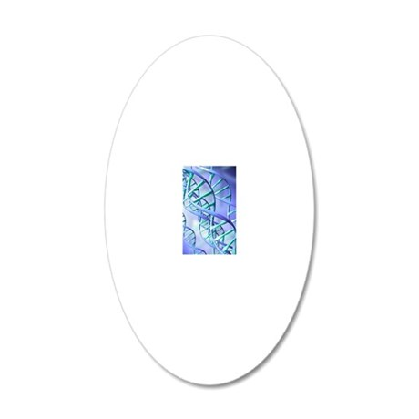 DNA double helix 20x12 Oval Wall Decal