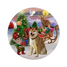 Treat for Shiba Inu Ornament (Round)