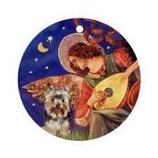 Angel & Yorkie (17) Ornament (Round)
