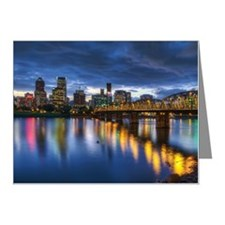 Portland Oregon waterfront s Note Cards (Pk of 10)