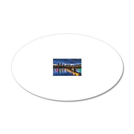 Portland Oregon waterfront s 20x12 Oval Wall Decal