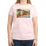 Florida Greetings Women's Pink T-Shirt