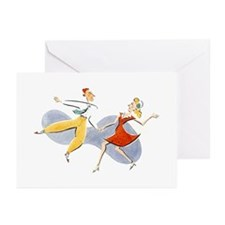 Cute Swing dancing Greeting Cards (Pk of 10)