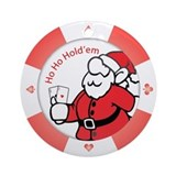 &quot;Ho Ho Holdem&quot; Poker Chip Ornament