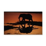 Chobe National Park, Botswana. Car Magnet 20 x 12
