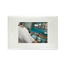 Captain at Control Pan Rectangle Magnet (100 pack)