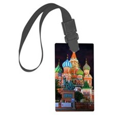 Saint Basil's Cathedral on red s Luggage Tag