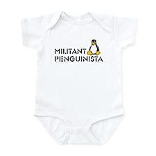 Militant Pinguinista Infant Bodysuit