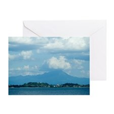 Blue daisen Greeting Cards (Pk of 10)