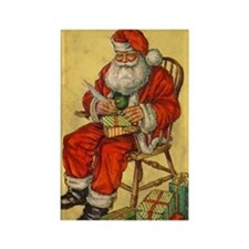 Vintage Santa Rectangle Magnet