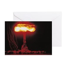 Nuclear Bomb Test, Nevad Greeting Cards (Pk of 20)
