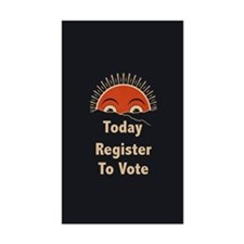 Today Register To Vote Rectangle Decal