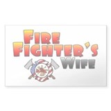 Fire Fighter's Wife Rectangle Decal