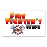 Fire Fighter's Wife Rectangle Stickers