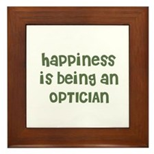 Happiness is being an OPTICIA Framed Tile
