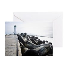 Walton Lighthouse, Santa Greeting Cards (Pk of 10)