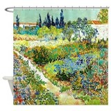 Van Gogh Flower Garden Poppy Shower Curtain