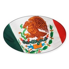 Close up of Mexican flag Decal