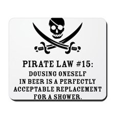 Pirate Law #15 Mousepad