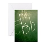 Letter B on chalkboard Greeting Cards (Pk of 10)