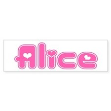 """Alice"" Bumper Car Sticker"