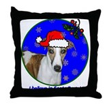 SANTA PAWS Whippet Throw Pillow