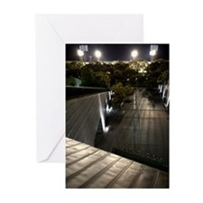 Baseball at night. Greeting Cards (Pk of 20)