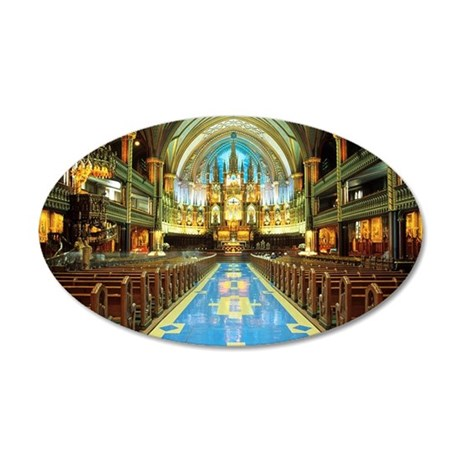 Aisle, Altar, Pulpit, Basili 35x21 Oval Wall Decal