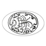 Scorpion Oval Decal