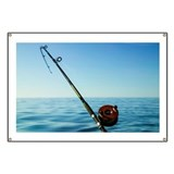 A fishing rod & reel Banner