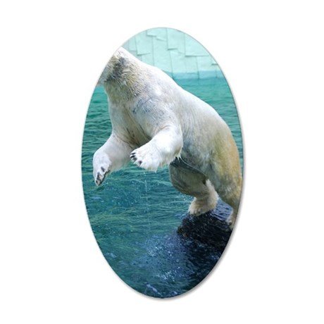 Polar bear 35x21 Oval Wall Decal