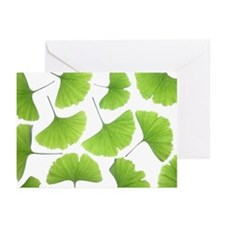 Ginko (Ginko Biloba) lea Greeting Cards (Pk of 20)