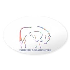 Farriers & Blacksmiths Oval Decal