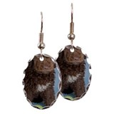 Italian Water Dog (Lagotto) Pup Earring Oval Charm