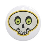 Skull Halloween Ornament (Round)