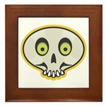 Skull Halloween Framed Tile