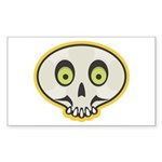 Skull Halloween Rectangle Sticker