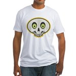 Skull Halloween Fitted T-Shirt