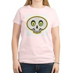 Skull Halloween Women's Pink T-Shirt