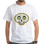 Skull Halloween White T-Shirt