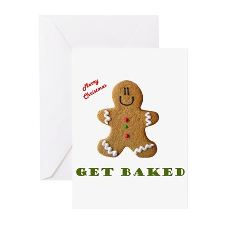 Get Baked Gingerbread Man Greeting Cards (Package by ...