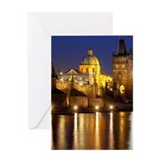 Prague, Charles Bridge. Greeting Card